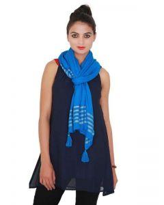 Generic Womens Viscose Straight Duppatta (Blue)