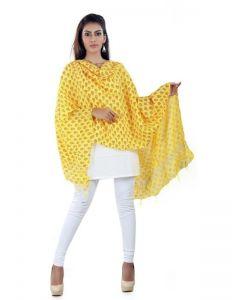 Generic Womens Cotton Straight Duppatta (Yellow, Red)