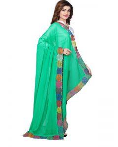 Generic Womens Nazneen Straight Duppatta (Green, Multi)
