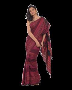 All over jecquard work multicolor handloom saree